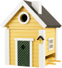 Load image into Gallery viewer, Multiholk - Yellow Cottage Bird Feeder Bird House