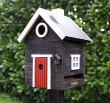 Load image into Gallery viewer, Multiholk - Black Cottage Bird Feeder Bird House