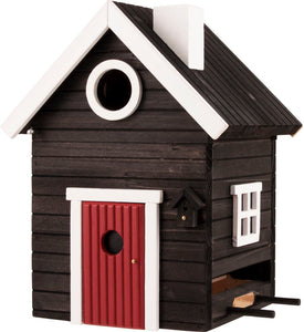Multiholk - Black Cottage Bird Feeder Bird House
