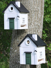 Load image into Gallery viewer, Multiholk - White Cottage Bird Feeder Bird House