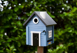 Multiholk - Blue Cottage Bird Feeder Bird House