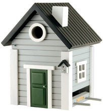 Load image into Gallery viewer, Multiholk - Grey Cottage Bird Feeder Bird House