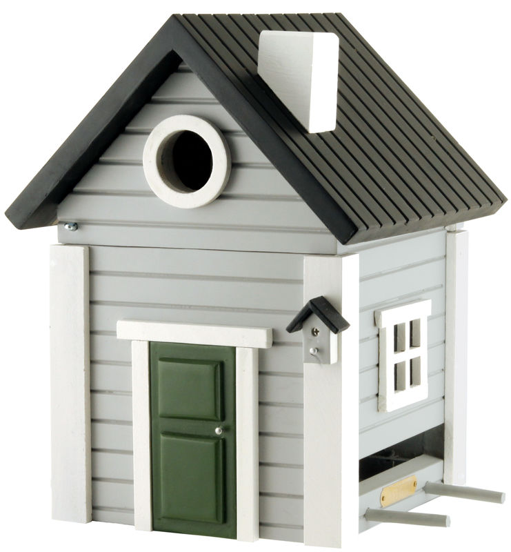 Multiholk - Grey Cottage Bird Feeder Bird House