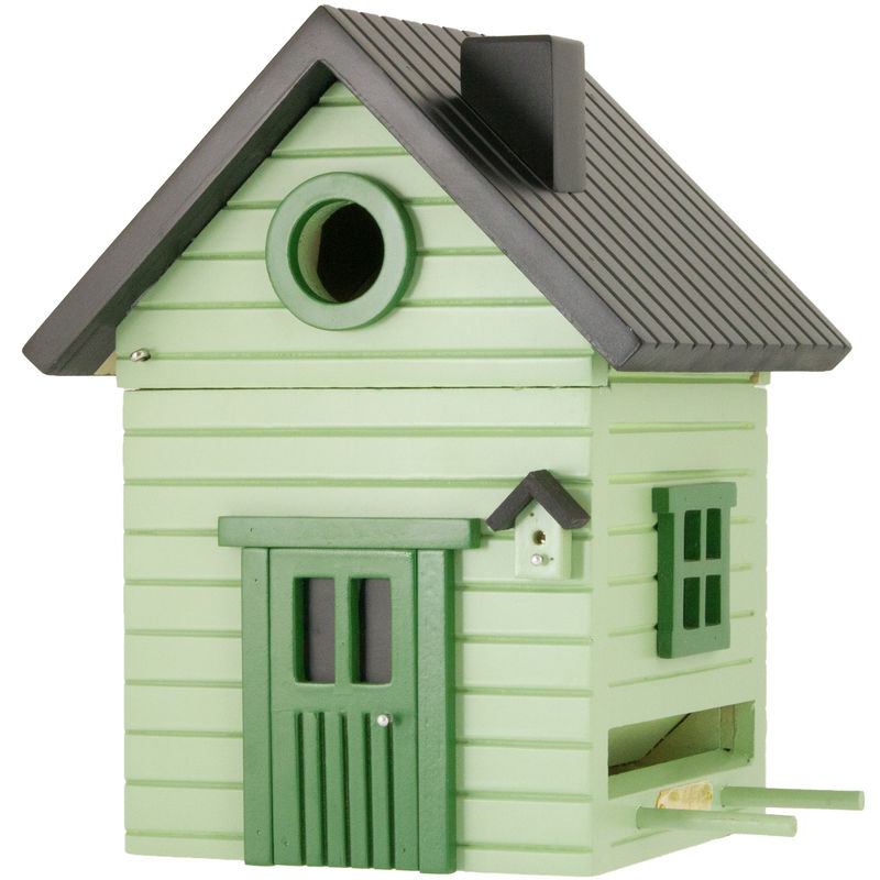 Multiholk - Pale Green Cottage Bird Feeder Bird House