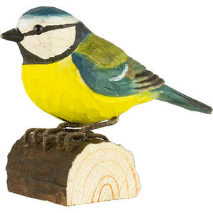 Hand Carved DecoBird Blue Tit