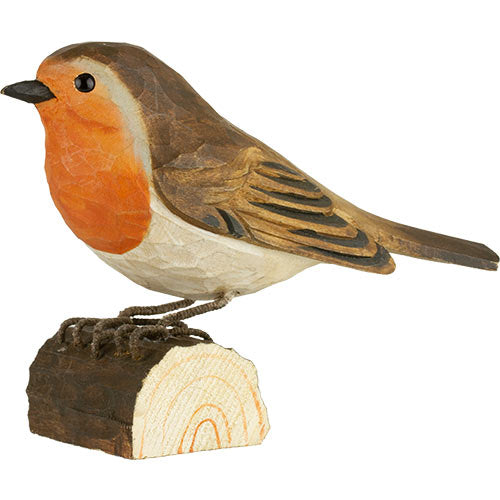 Hand Carved DecoBird Robin