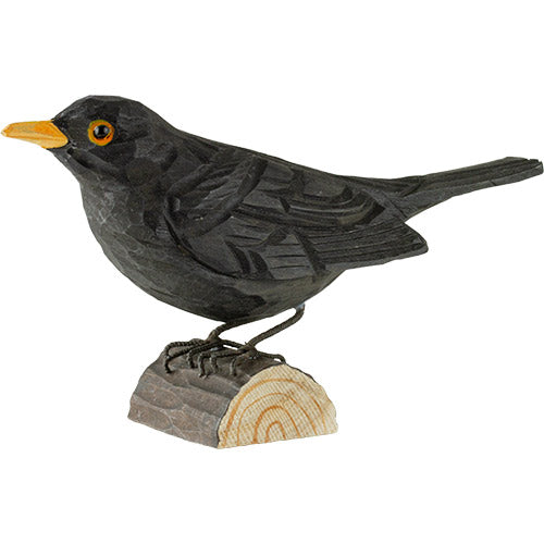 Hand Carved DecoBird Blackbird
