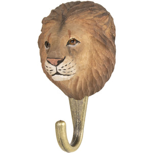 Hand Carved Lion Hook