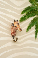 Load image into Gallery viewer, Hand Carved Giraffe Hook
