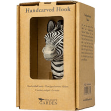 Load image into Gallery viewer, Hand Carved Zebra Hook