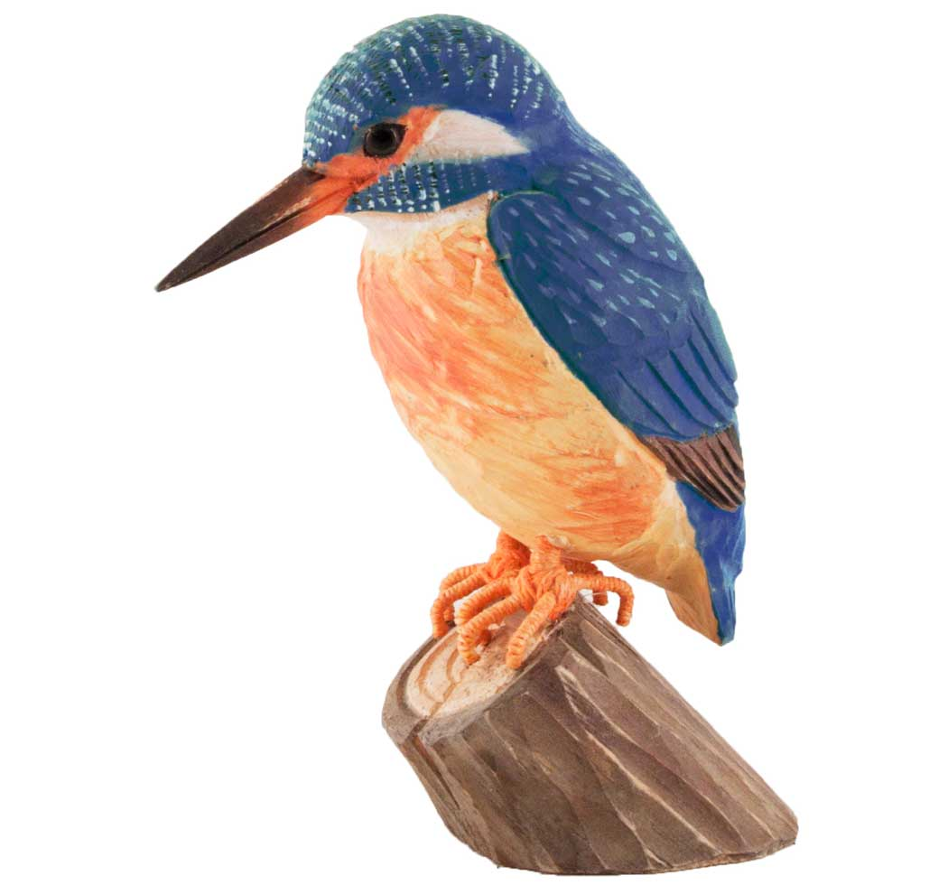 Hand Carved DecoBird Kingfisher