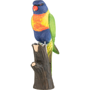 Hand Carved DecoBird Rainbow Lorikeet