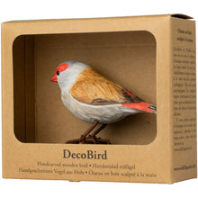 Load image into Gallery viewer, Hand Carved DecoBird Red-Browed Finch