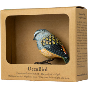 Hand Carved DecoBird Spotted Pardalote