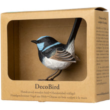 Load image into Gallery viewer, Hand Carved DecoBird Superb Fairy Wren
