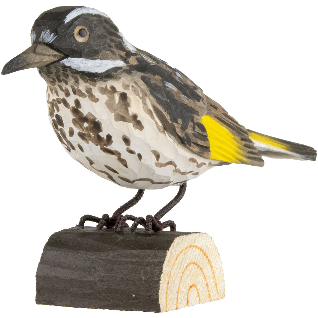 Hand Carved DecoBird New Holland Honeyeater