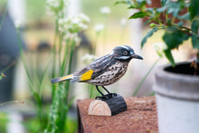 Load image into Gallery viewer, Hand Carved DecoBird New Holland Honeyeater