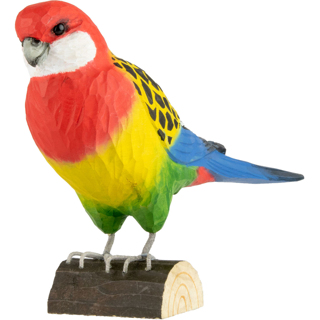 Hand Carved DecoBird Eastern Rosella