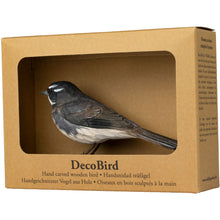 Load image into Gallery viewer, Hand Carved DecoBird Grey Fantail