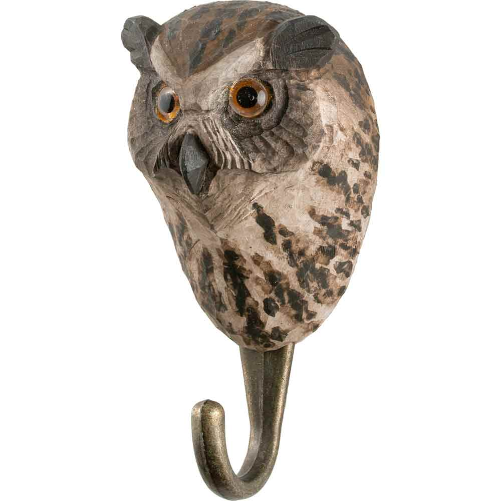 Hand Carved Owl Hook