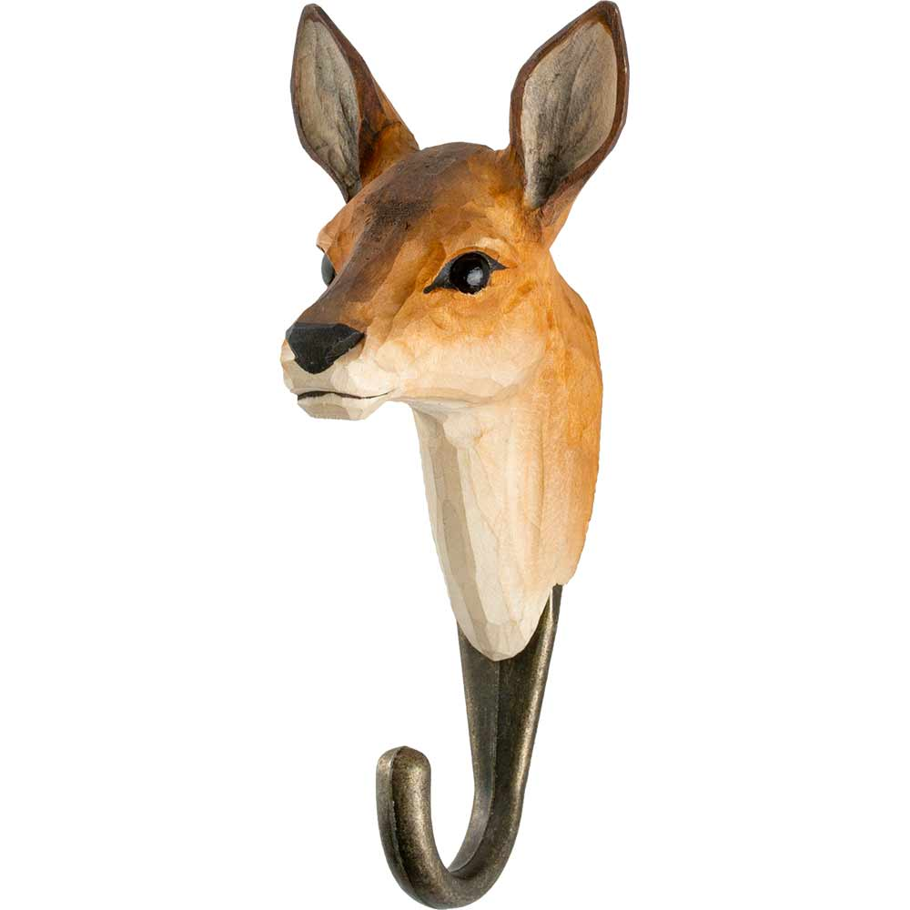 Hand Carved Roe Deer Hook