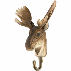 Hand Carved Moose Hook