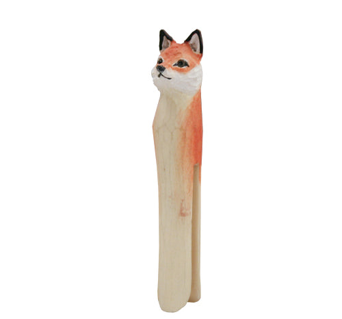 Hand Carved Fox Peg