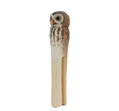 Hand Carved Owl Peg