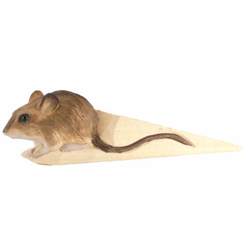Hand Carved Mouse Doorstop