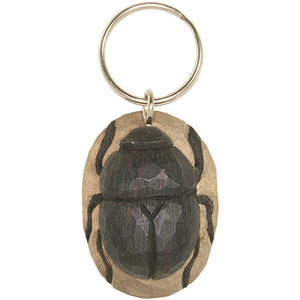 Hand Carved Beetle Keyring