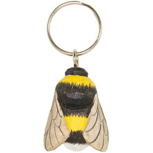Load image into Gallery viewer, Hand Carved Bumblebee Keyring