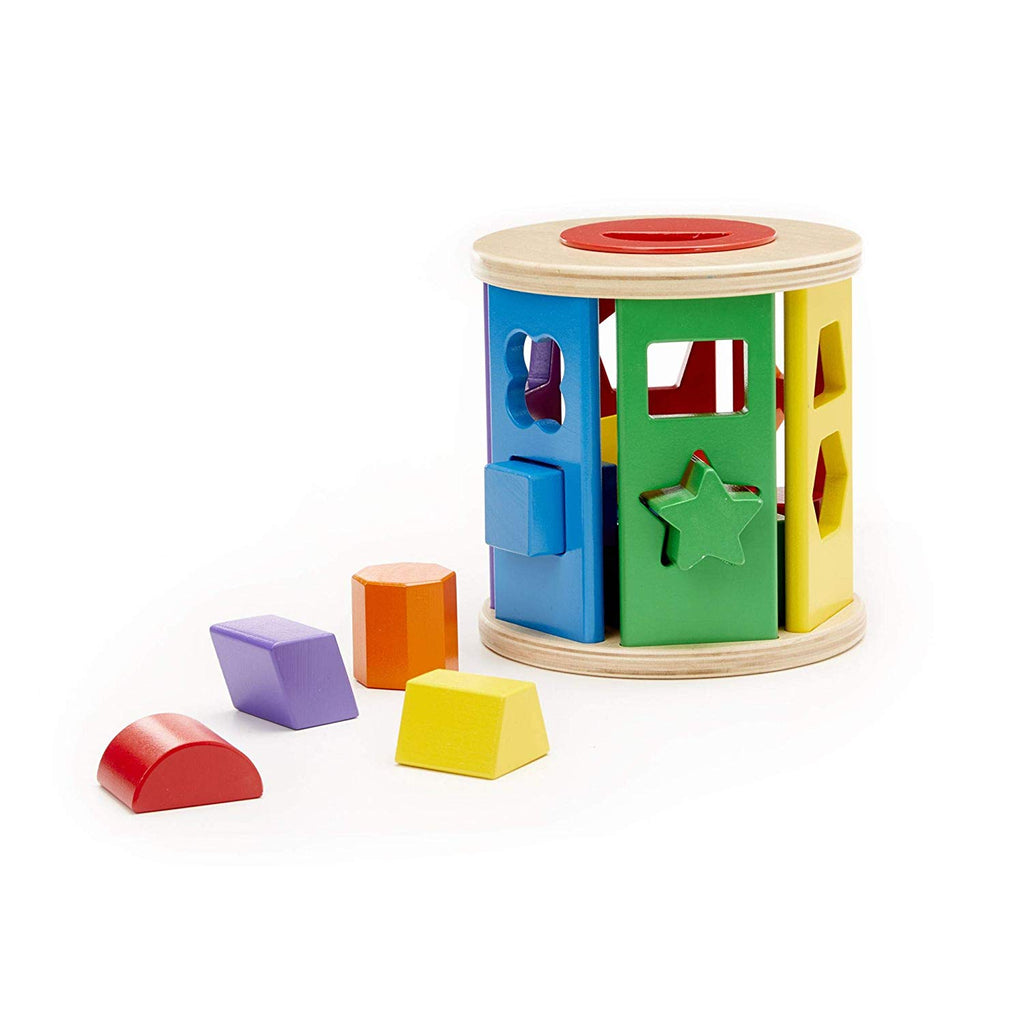 Match & Roll Shape-Sorter (Classic Wooden Toy, Developmental Toy, Sturdy Wooden Construction)