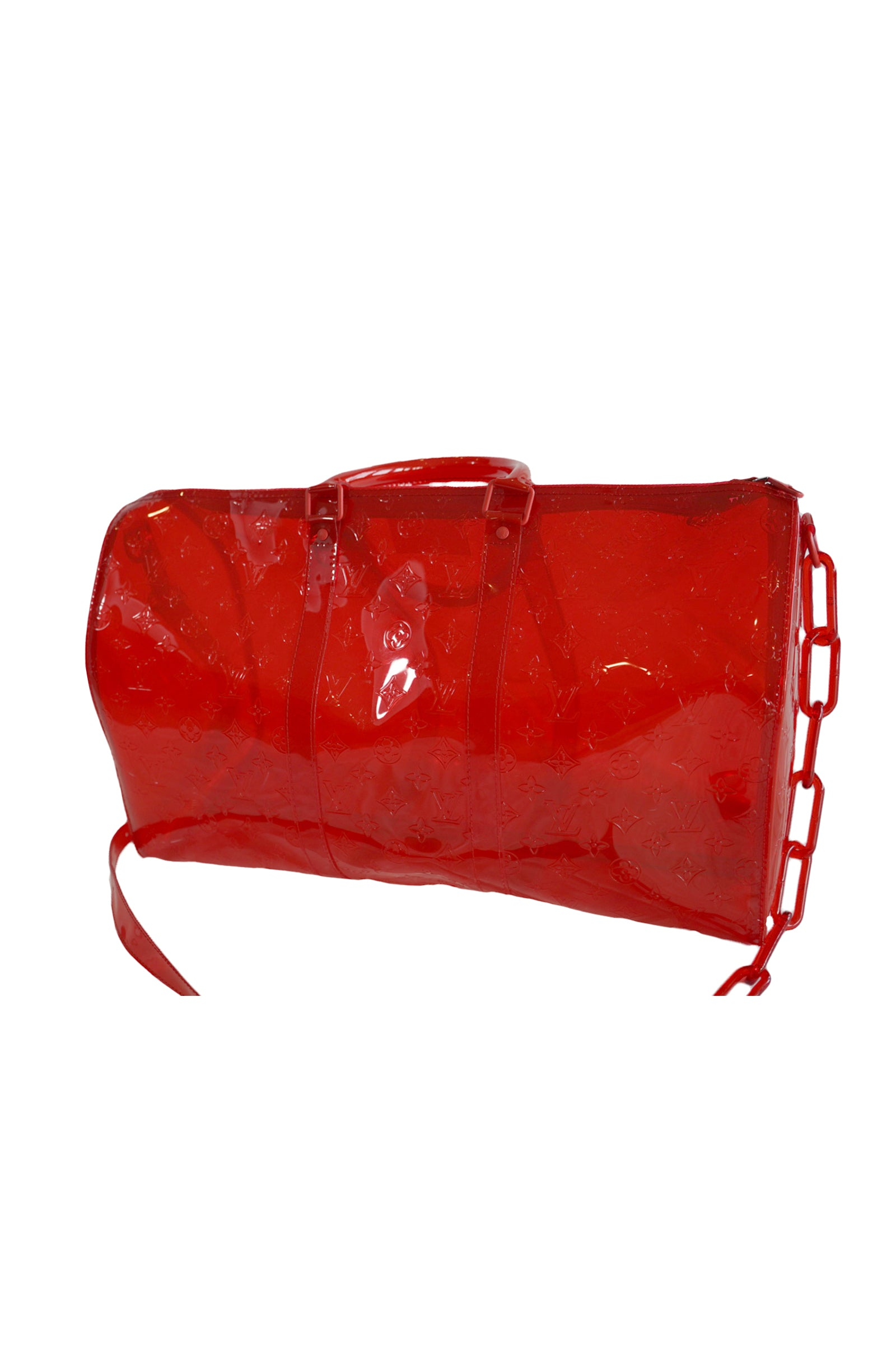 Louis Vuitton Red Duffle Bag Virgil Abloh collection