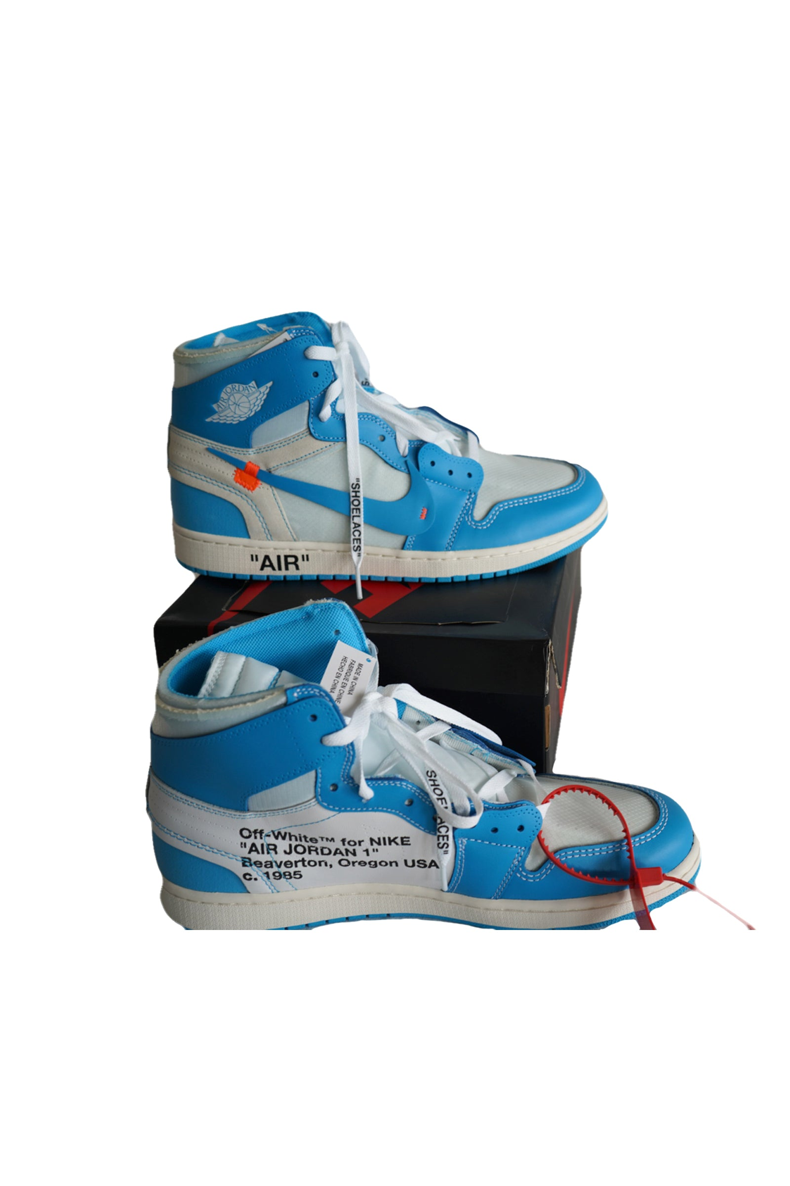 Air Jordan 1's Off-white Blue (new in box) Size 13