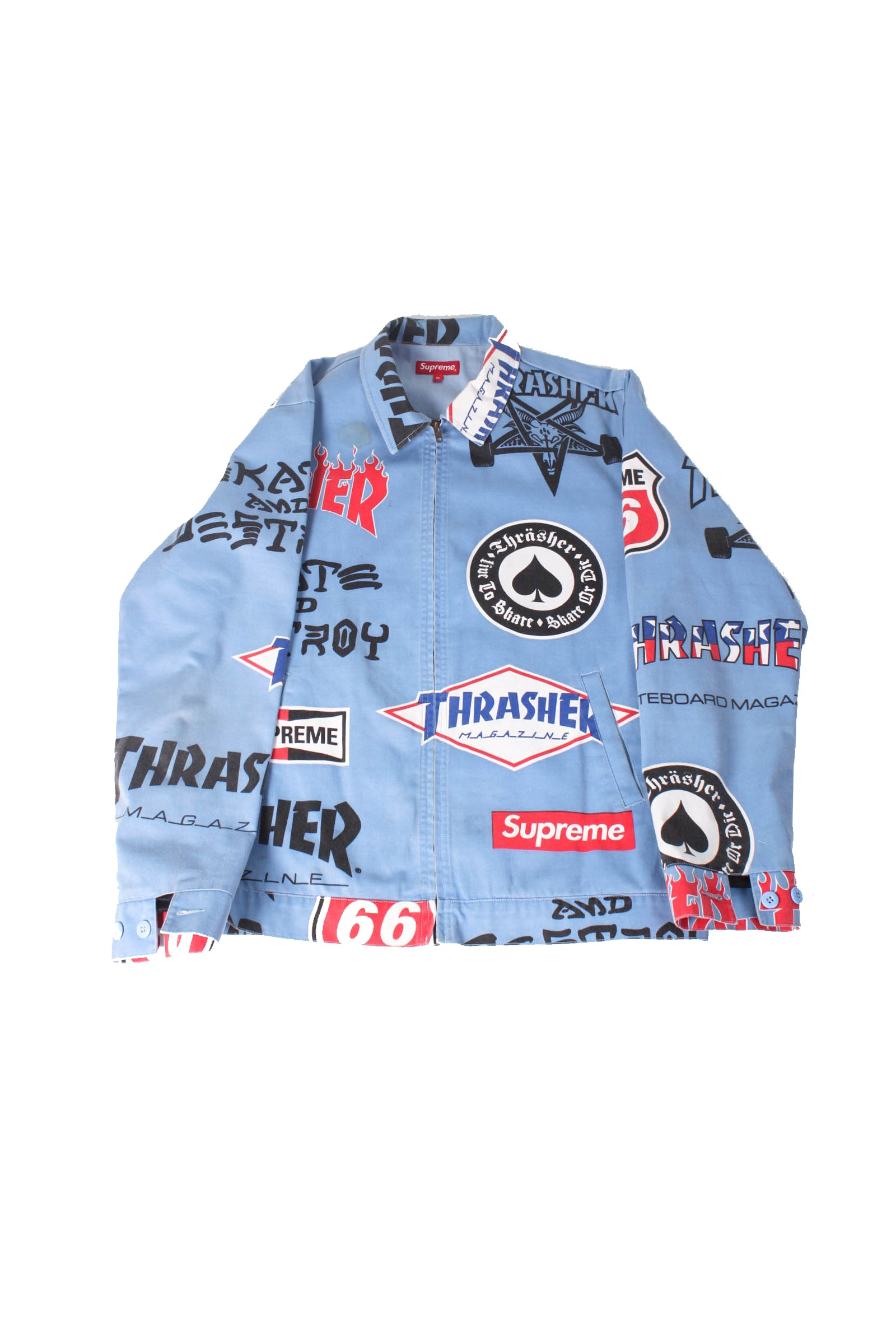 Vintage Supreme Blue Racing Jacket