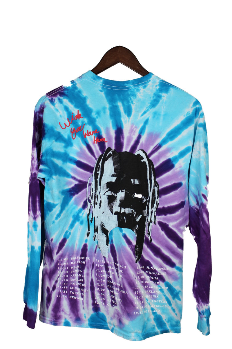 Astroworld wish you were here tie dye shirt
