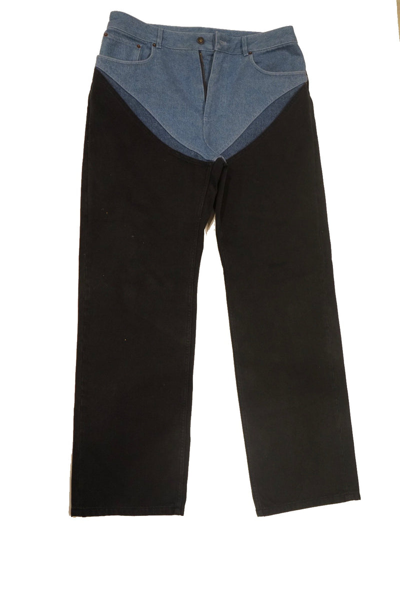 Men's Y Project two-tone denim
