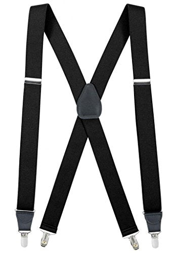 18cd9a42689 Hold Em Suspender for Men Made in USA X-Back Genuine Leather Crosspatch Clip  Hold Em Suspender for Men Made in USA X-Back Genuine Leather Crosspatch Clip