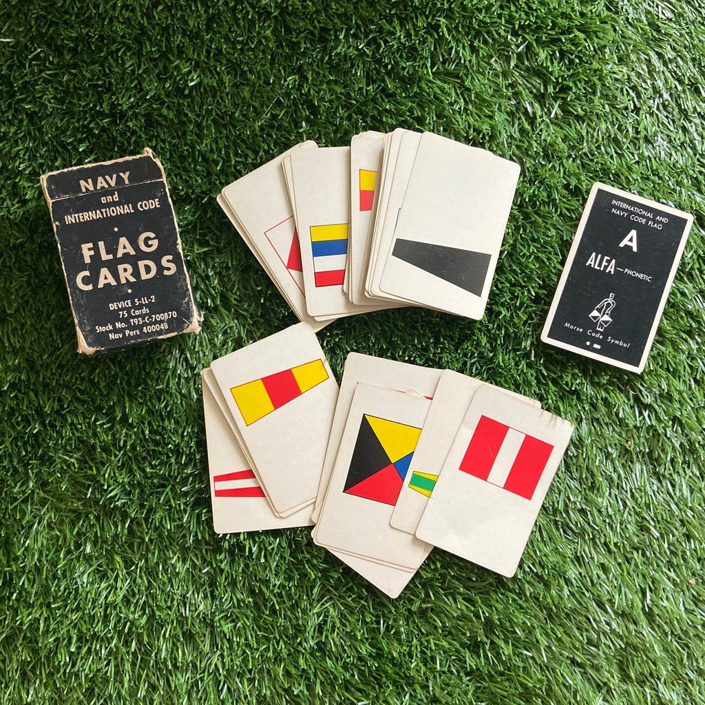Navy Flag Flash Cards
