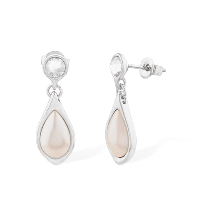A Drop Of Love Pearl Earring Forevercrystals