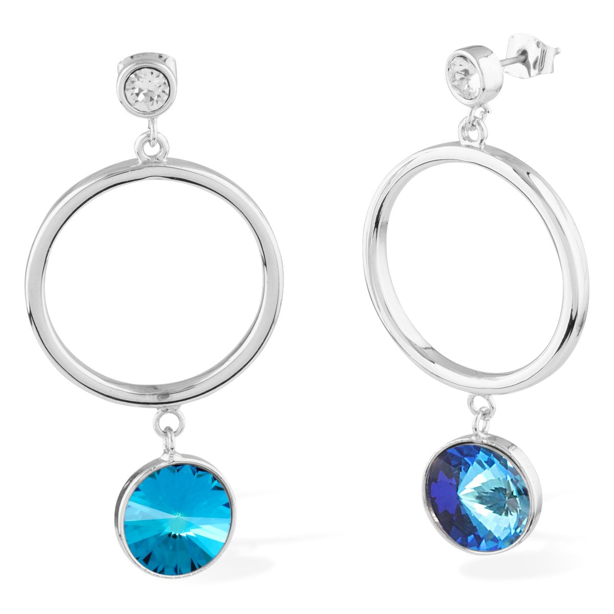 Apollo Earrings Forevercrystals Bermuda Blue