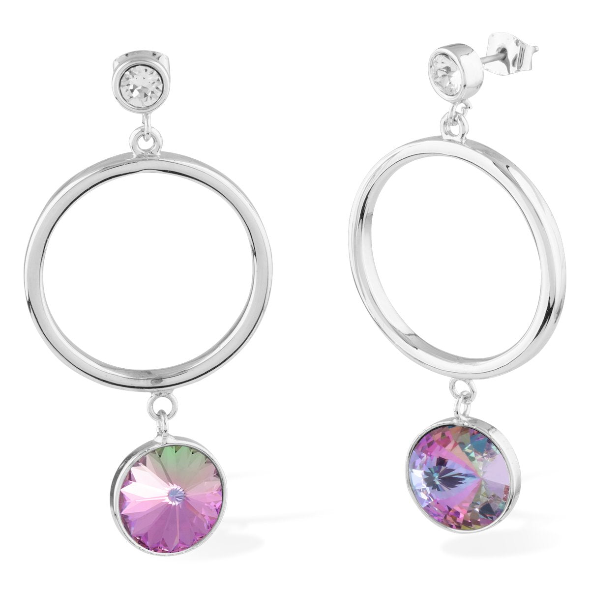 Apollo Earrings Forevercrystals Vitrail Light