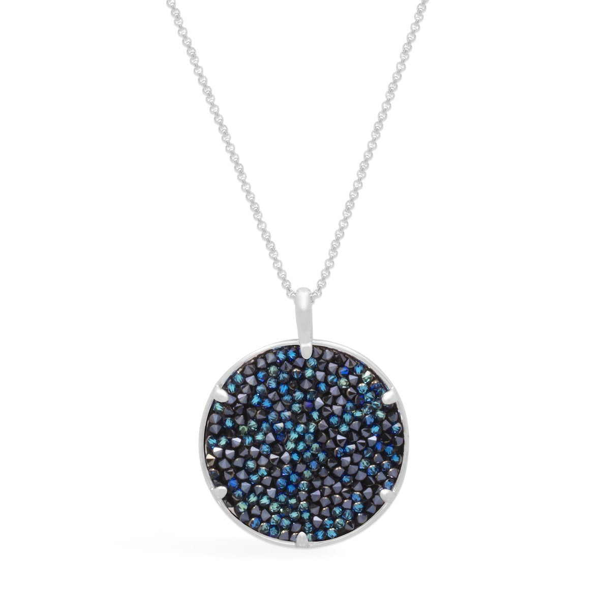 Ara Medallion Necklace forevercrystals Bermuda Blue