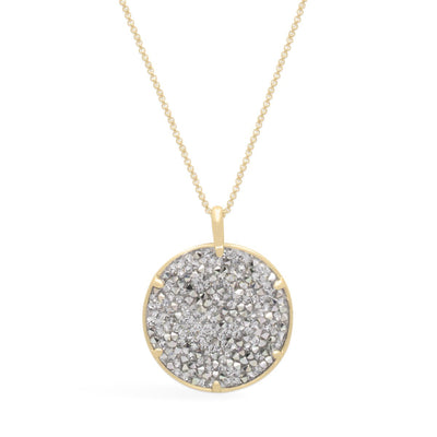 Ara Medallion Necklace forevercrystals Gold