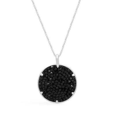 Ara Medallion Necklace forevercrystals Jet