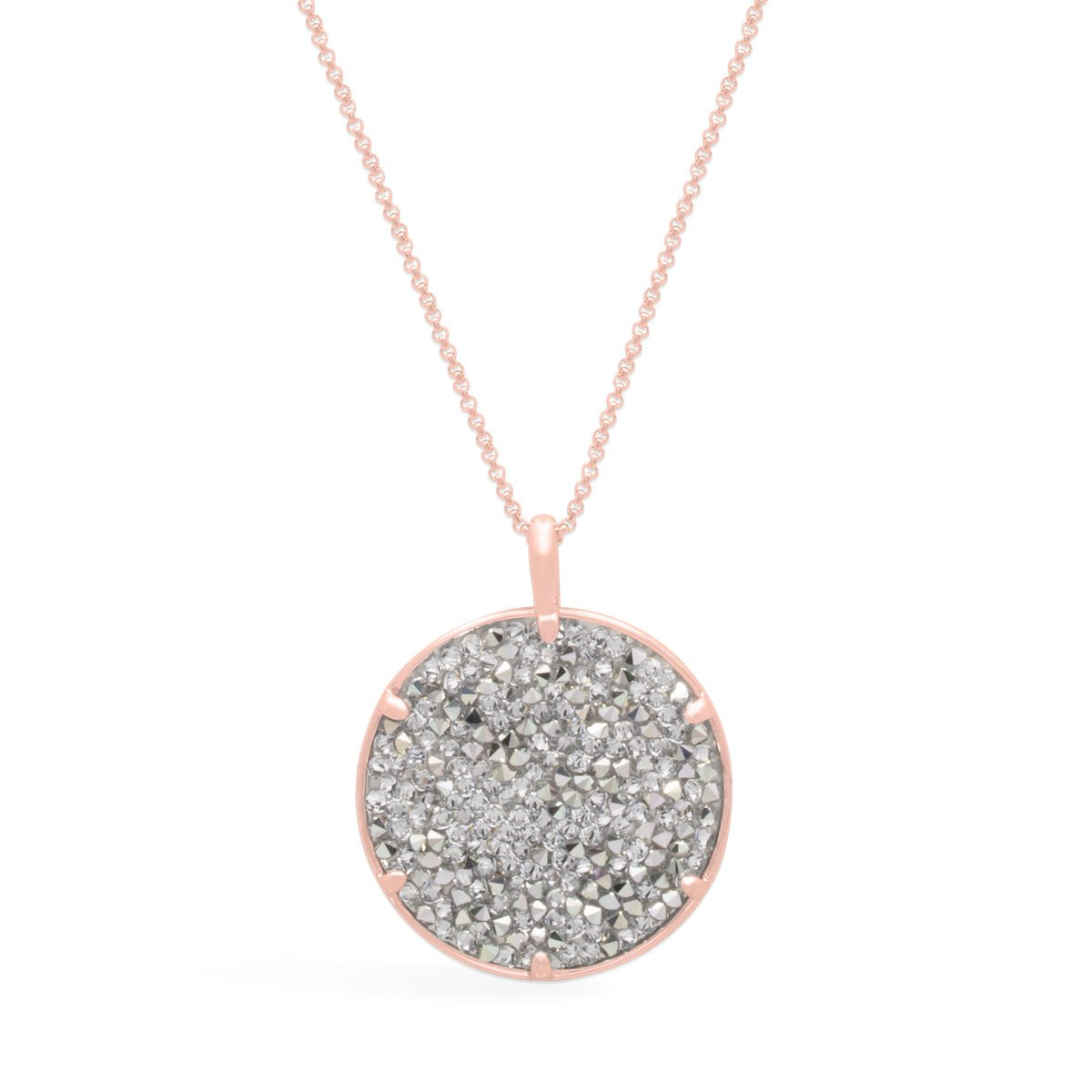 Ara Medallion Necklace forevercrystals Rose Gold