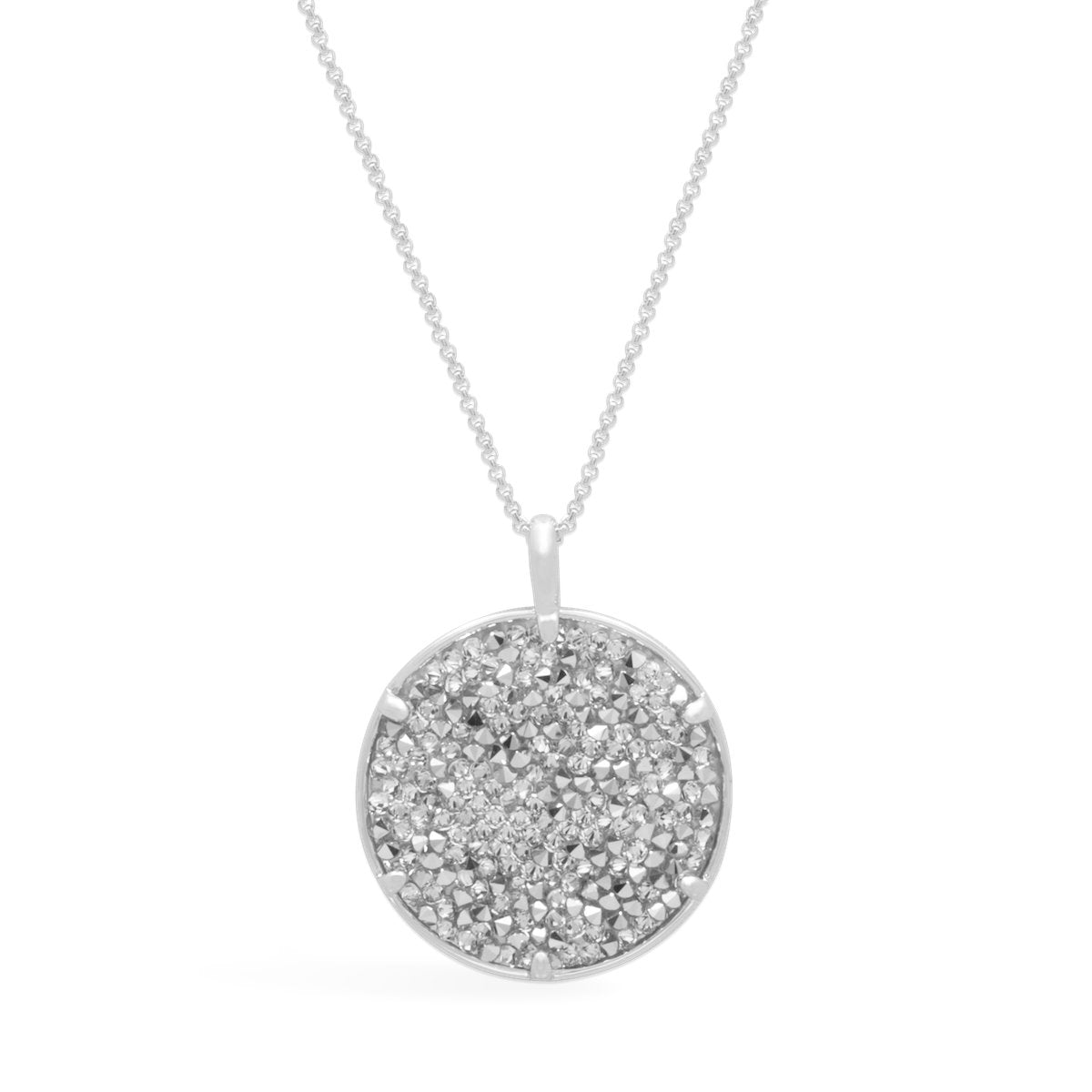 Ara Medallion Necklace forevercrystals Silver