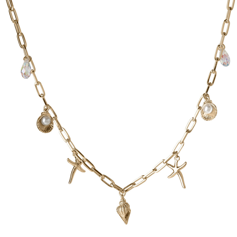 BALDWIN SHELL NECKLACE GOLD NECKLACE - FOREVER - ESSENTIALS FOREVER