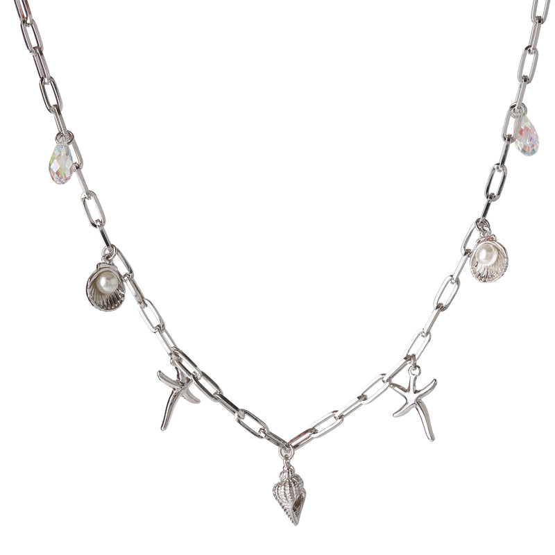BALDWIN SHELL NECKLACE SILVER NECKLACE - FOREVER - ESSENTIALS FOREVER