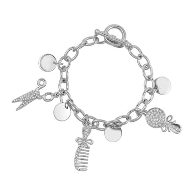 Beautician Passion Charm Bracelet BRACELET - FOREVER - VOIAGE forevercrystals